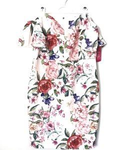 NWT Paper Dolls Bardot White Floral Dress